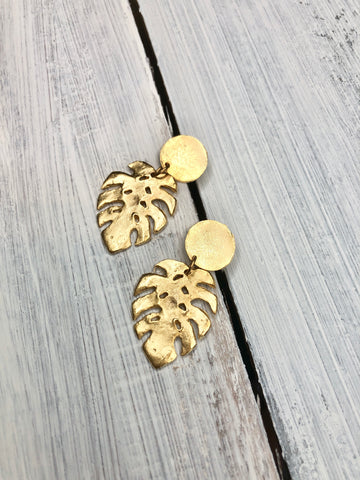 Susan Shaw Palm Tree Earrings