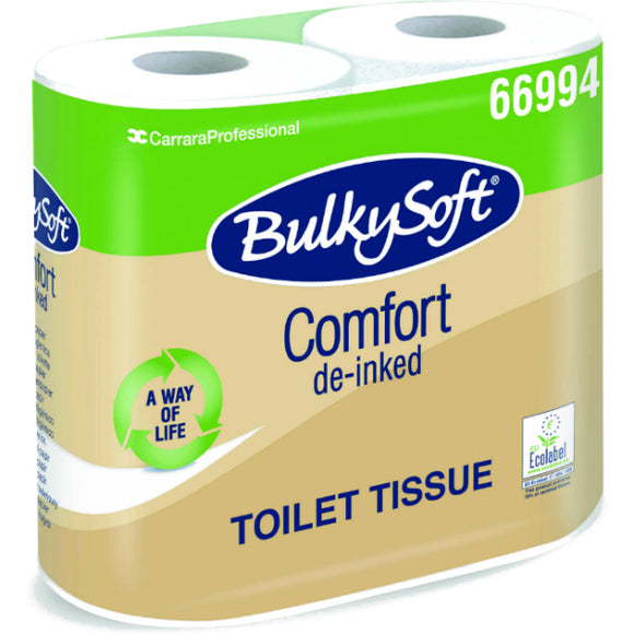 Bulky Soft 2 Ply Recycled Toilet Tissue 500 Sheet - 40