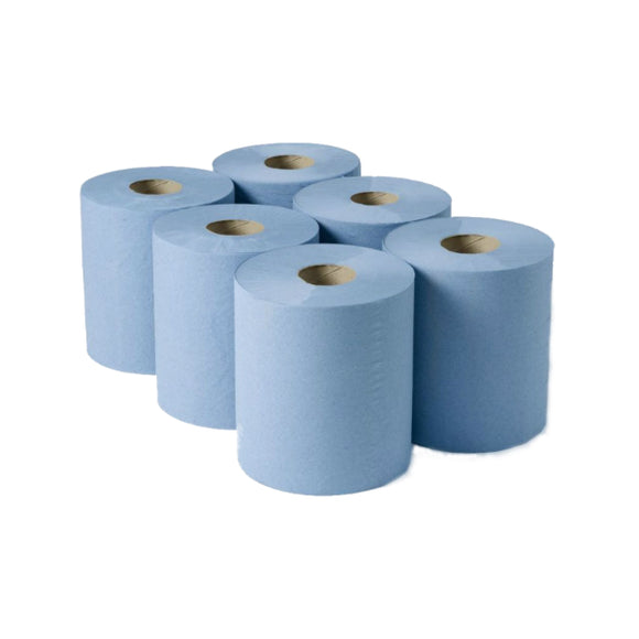 Centre feed rolls blue