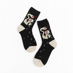 Kawaii Painting Style Women's Sock
