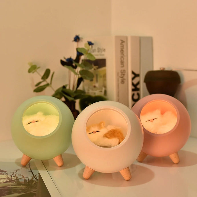 Kawaii Cat House Night Lamp (Chargeable)