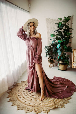 Cottage Dress- Mauve  5'6 height