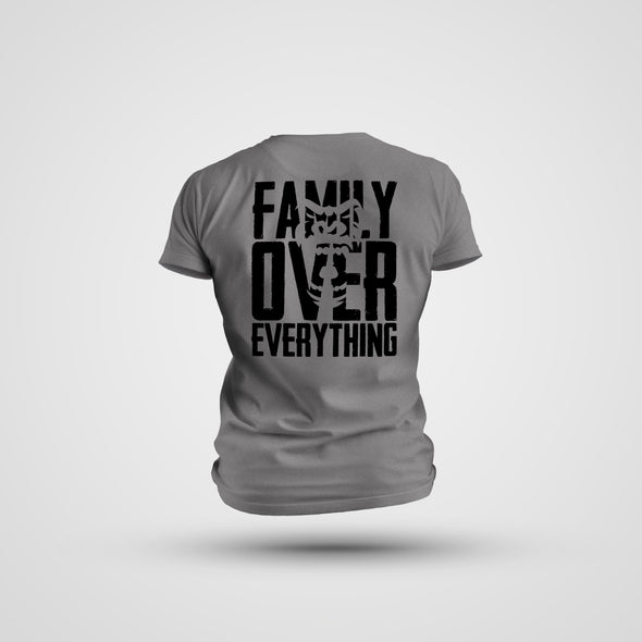 FAMILY OVER EVERYTHING ATHLETIC TEE