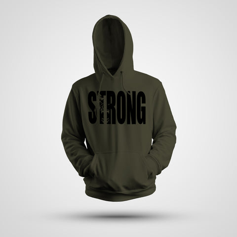 STRONG ARMY GREEN HOODIE