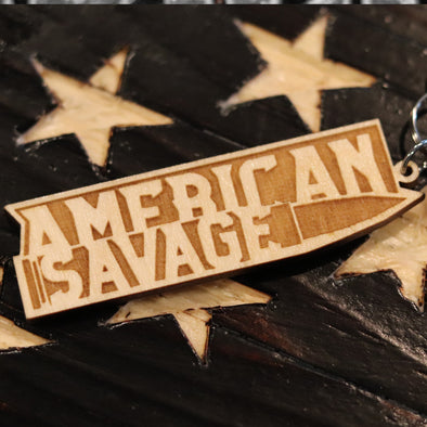 American Savage Wood Keychain