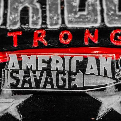 American Savage Clear Keychain