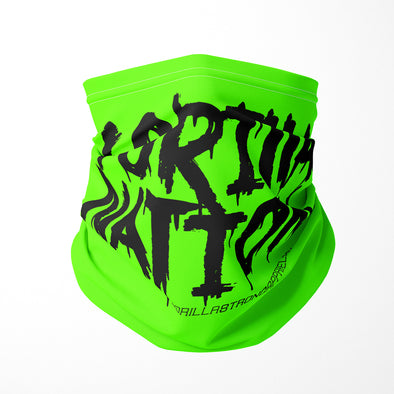 Gorilla Nation Safety Green Neck Gaiter