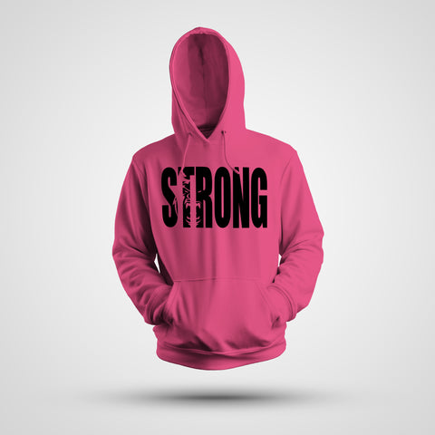 STRONG NEON PINK HOODIE