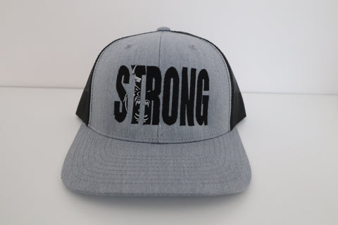STRONG GREY OVER BLACK HAT