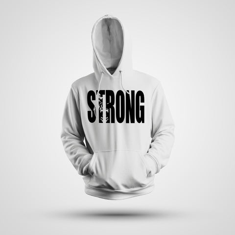 STRONG WHITE HOODIE