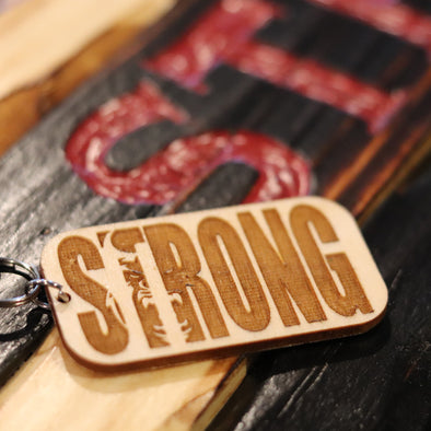 Strong Wood Keychain