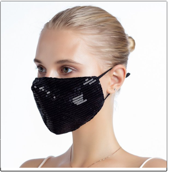 CARE glitter masks black