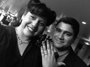 'Honey bee' custom engagement ring makes dreams come true for Jose and Michele