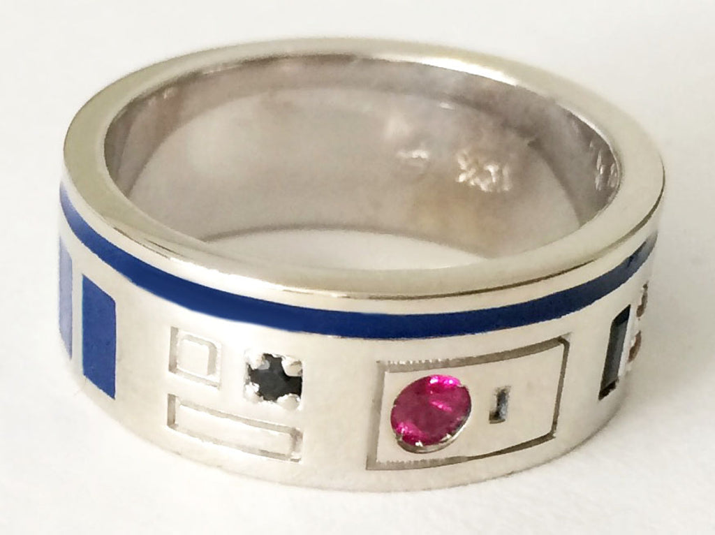 custom jewelry r2d2 ring proves jewelry can be sweeter second - R2d2 Wedding Ring