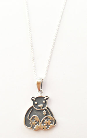 Autism Awareness Bear Charm