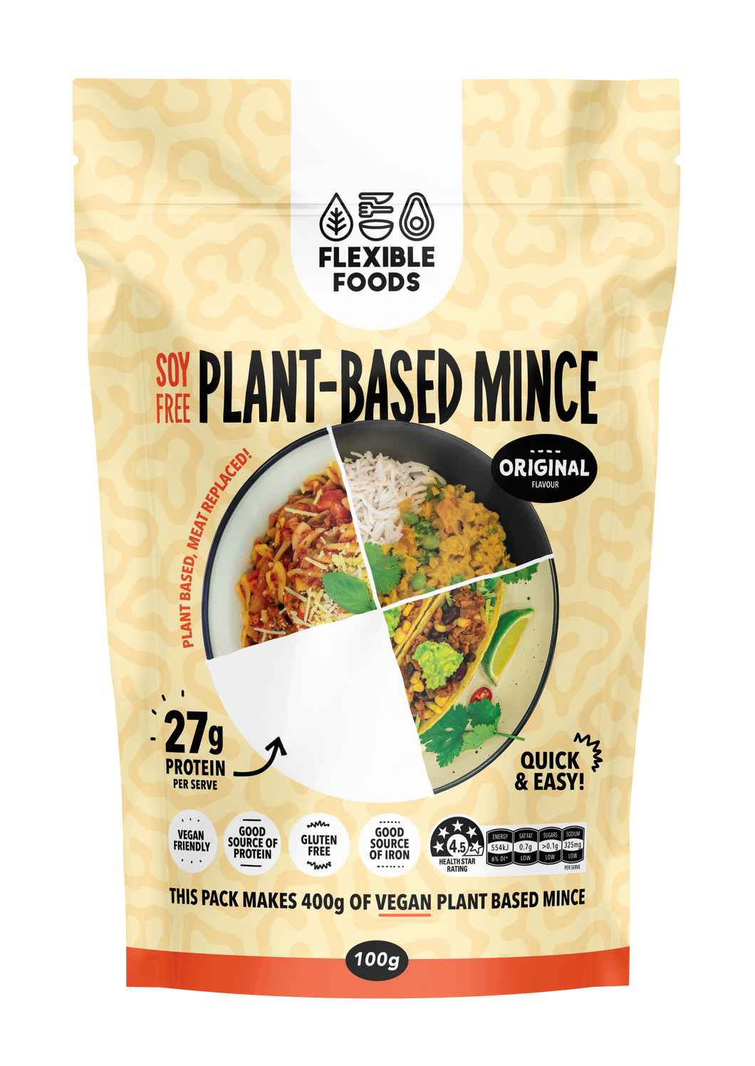 Flexible Foods Plant Based Mince - Original (Unflavoured)