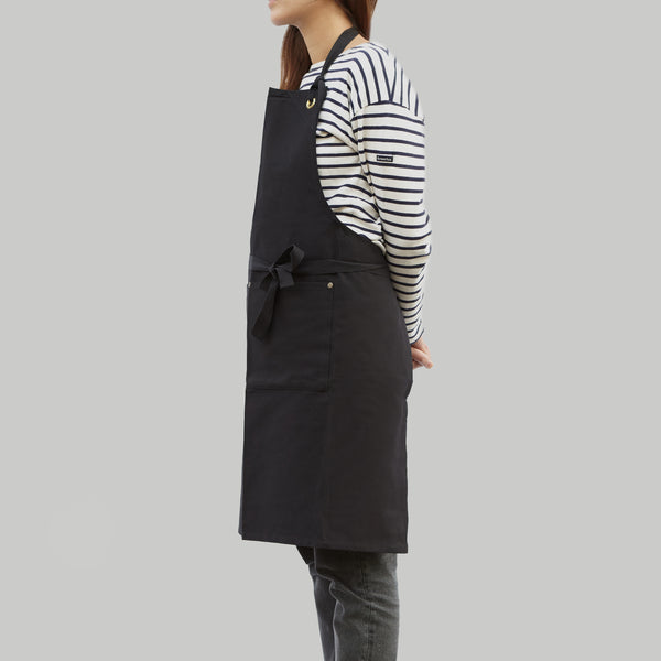 Full Apron - Black Cotton Canvas