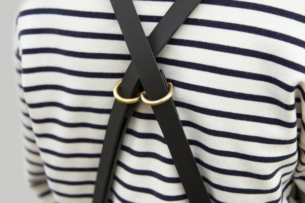 Workshop Apron - Leather Straps - Black