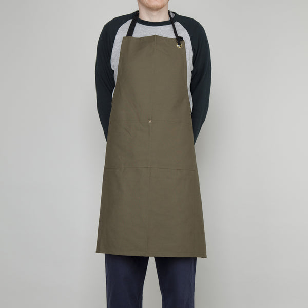 Full Apron - Cotton Canvas in Lovat