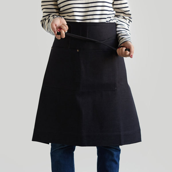 Waist Apron with Pockets - Japanese Denim