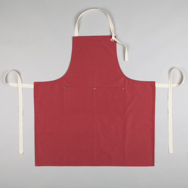 Full Apron - Sanded Cotton Twill in Terracotta