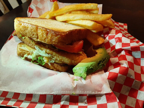 Big Texas Catfish Sandwich . All orders must be picked up. For Delivery find us on Uber, Grubhub or Postmates