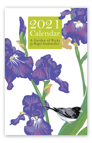2021 Garden of Birds Large Wall Art Calendar