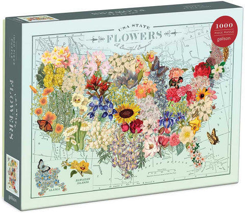 USA State Wildflower Puzzle
