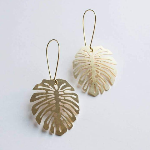Monstera deliciosa Earrings