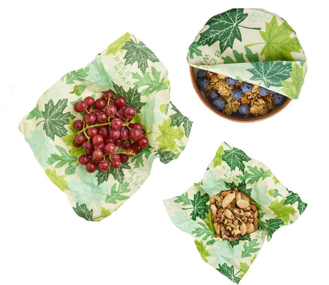 Bee's Wrap - 3 Pack Food Wraps - Assorted Sizes (FOREST FLOOR PRINT)