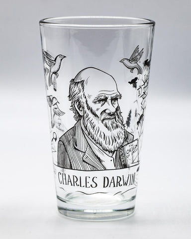 Charles Darwin Pint Glass