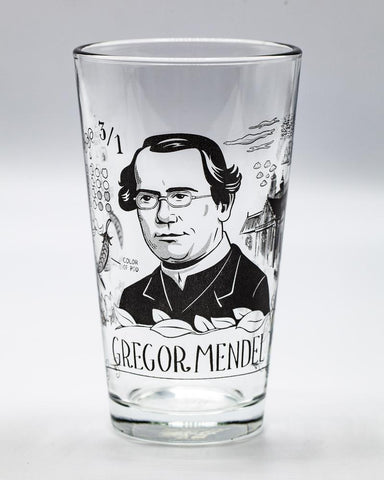 Gregor Mendel Pint Glass