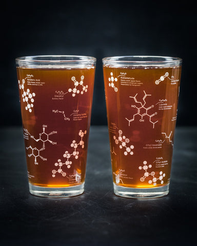Beer Chemistry Pint 2-Glass Set