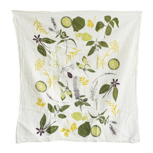 Cocktail Herbs Kitchen Towel