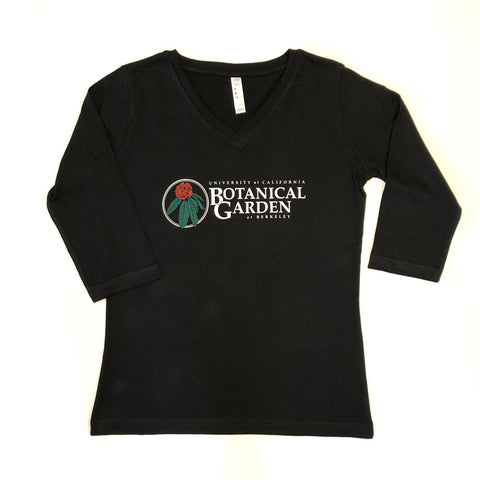 V-Neck 3/4 Sleeve Logo Tee - Women's Sizing