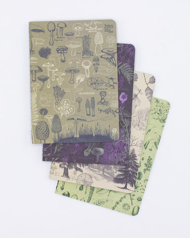 Plants & Fungi Pocket Notebook 4-pack