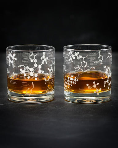 Whiskey Chemistry Rocks - 2 Glass Set