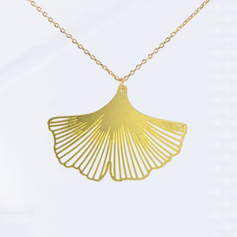 Ginkgo biloba Leaf Necklace