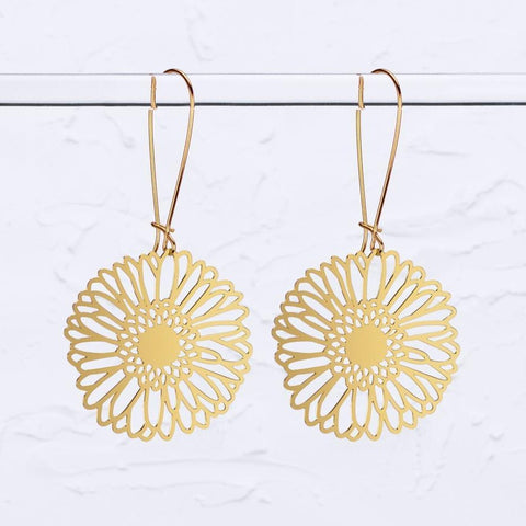 Gerbera jamesonii Flower Earrings