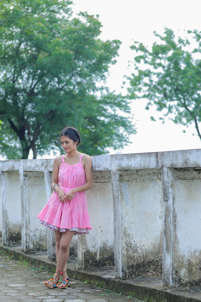 Padmini Reversible Dress pink