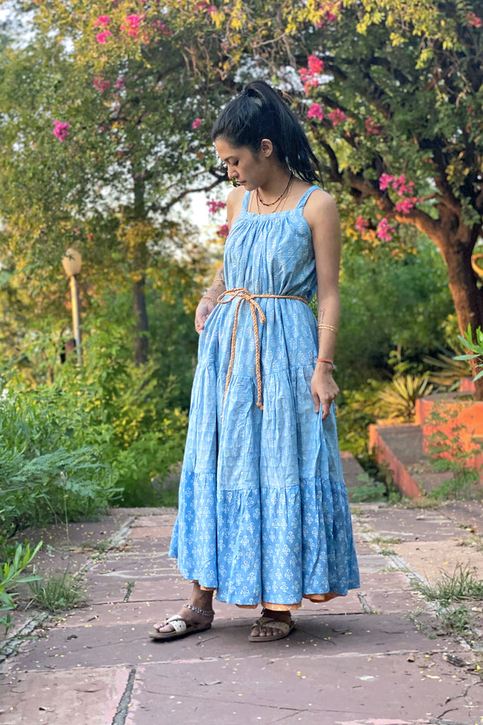 Zuri Reversible Maxi Peach Blue