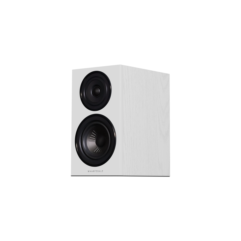 Diamond 12.1 Bookshelf Speakers In White (Left No Grill)