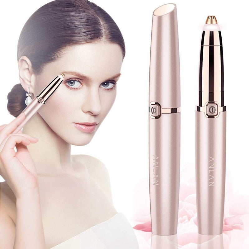 Painless Rechargeable Eyebrow Trimmer & Facial Hair Remover