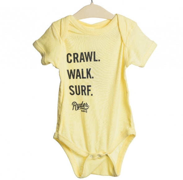 RYDER CRAWL WALK SURF ONESIE BANANA