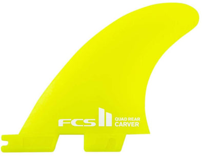FCS FCS II CARVER NEO GLASS QUAD REAR FIN SET