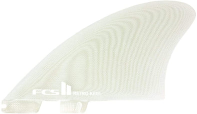 FCS II Retro Keel Surfboard 2 Fin Set Performance Glass X Large Clear