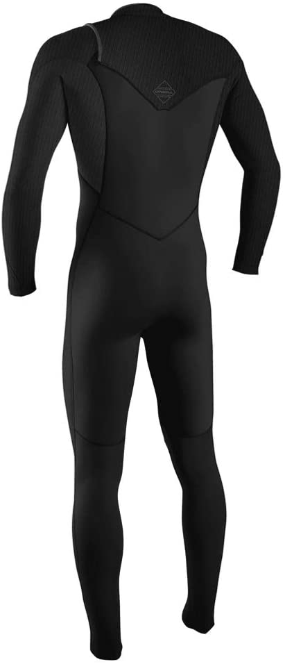 O'NEILL Mens Hyperfreak+ 4/3mm Chest Zip Wetsuit - Black - Chest Zip Entry