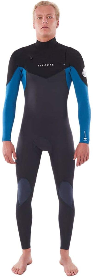 Rip Curl Dawn Patrol 3/2 Chest-Zip Wetsuit - Men's Blue, L