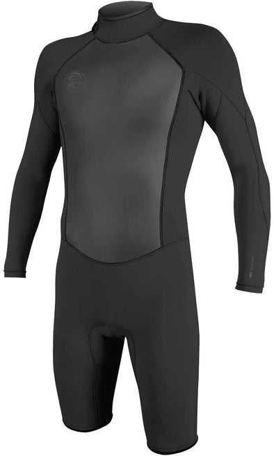 O'Neill Men's O'Riginal 2mm Back Zip Long Sleeve Spring Wetsuit, Black/Black, 2XL