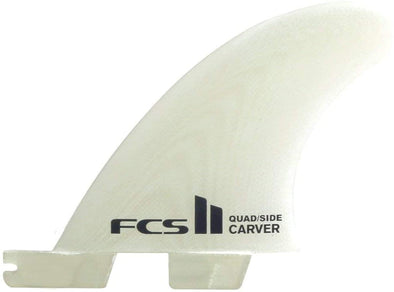 FCS FCS II CARVER PERFORMANCE GLASS QUAD REAR FIN SET